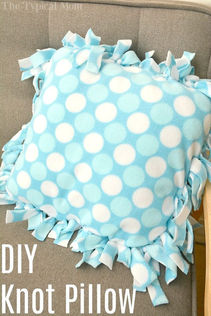 How To Make A Knot Pillow The Typical Mom