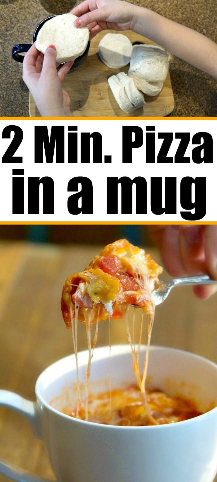 2 Minute Pizza In A Mug The Typical Mom