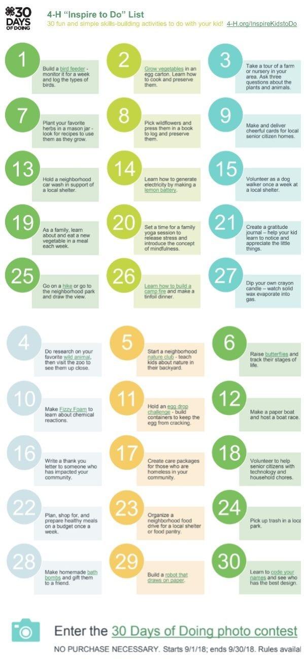 4h program 30 days of doing