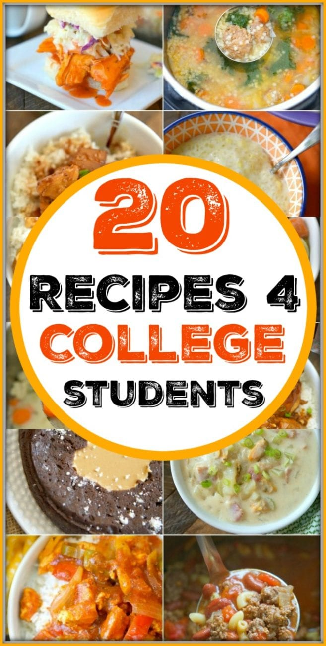 free printable cookbook for college students with 20 easy recipes