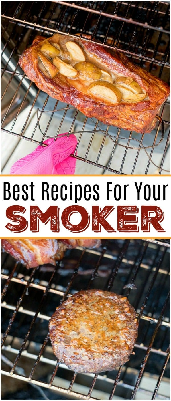 Here are some easy smoker recipes we've made that have come out amazing! From beef to chicken and pork with a side of vegetables you'll fall in love. #smoker #recipes #easy #beef #brisket #ham #chicken #pork #steak #loin #smoked #smoking #meat #vegetables #potatoes