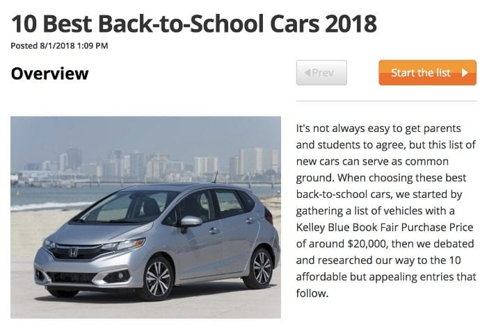 good used cars for teens