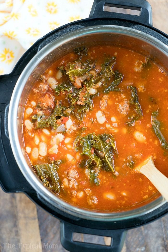 pressure cooker sausage soup 2