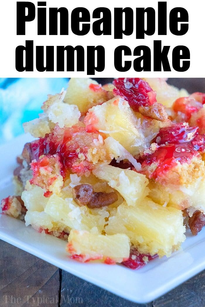 Pineapple Dump Cake With White Cake Mix