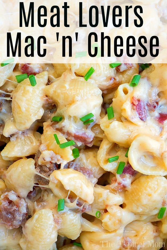 Meat Lovers Pressure Cooker Mac and Cheese