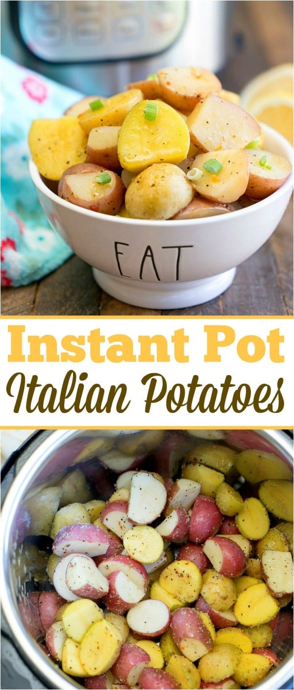 Instant Pot potatoes have never been easier to make in your pressure cooker and full of flavor with these Italian herb seasonings! Perfect side dish with dinner. #instantpot #pressurecooker #instantpotrecipes #potatoes #italian #diced #seasoned #sidedish