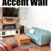 shiplap accent wall