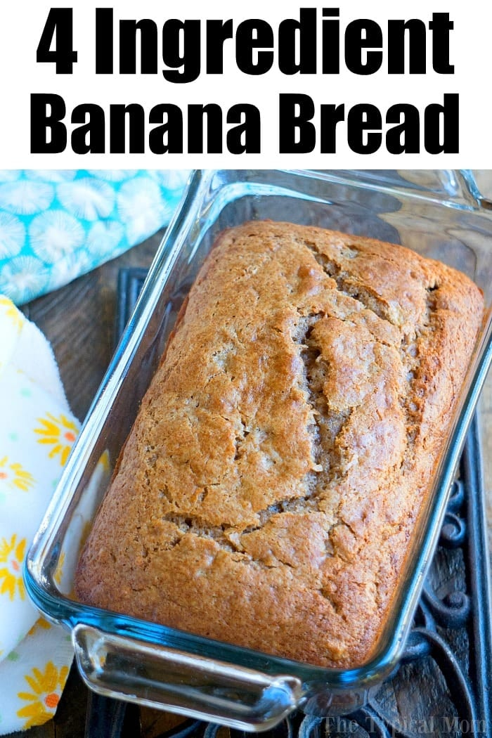 banana bread with cake mix