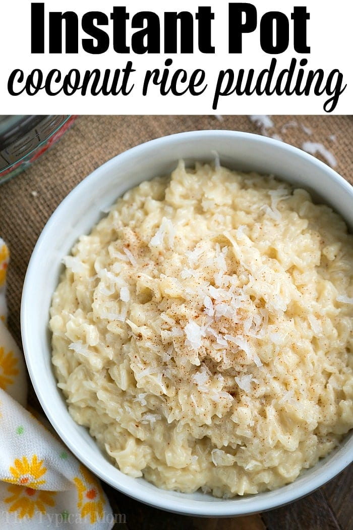 Pressure Cooker Cococnut Rice Pudding - Instant Pot ...