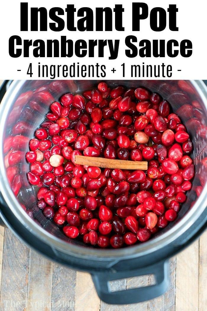 instant pot cranberry sauce 3