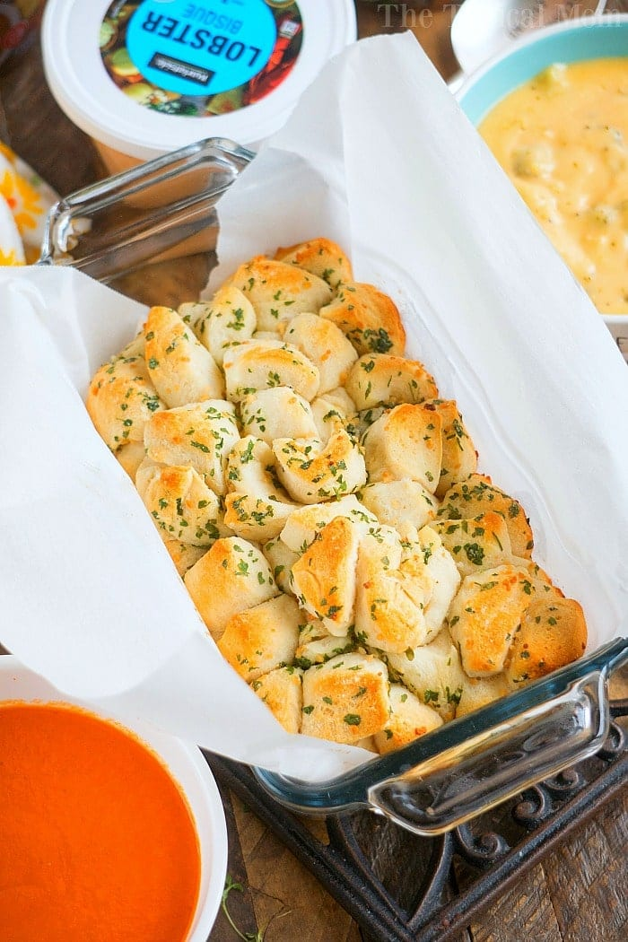 garlic pull apart bread