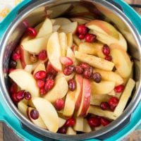 instant pot cranberry applesauce