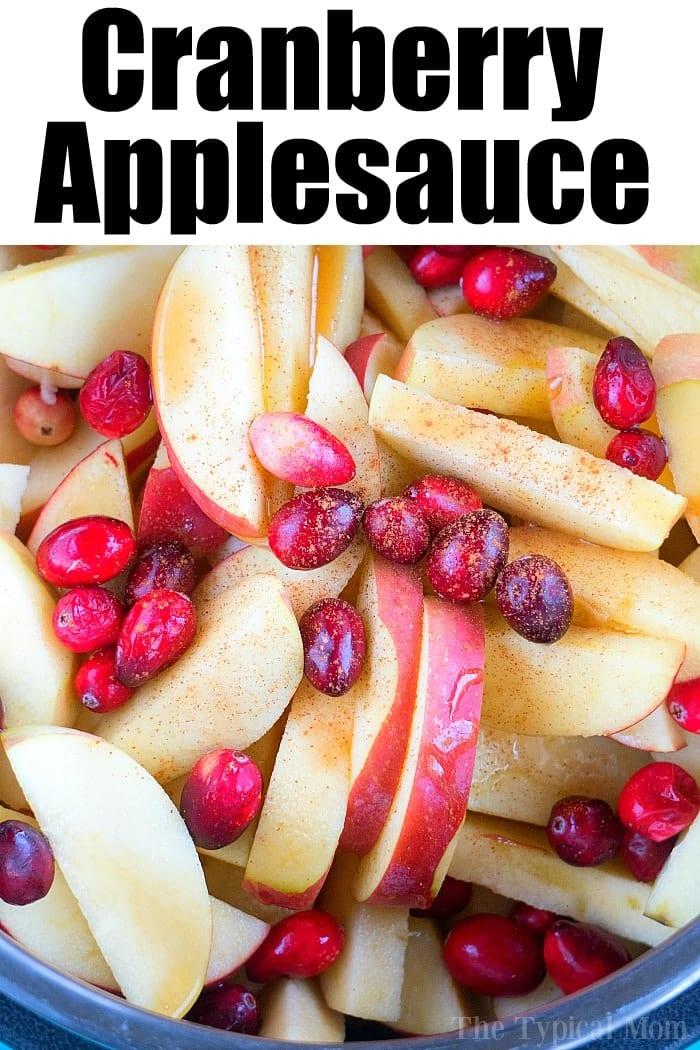 instant pot cranberry applesauce 3