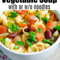 instant pot vegetable soup