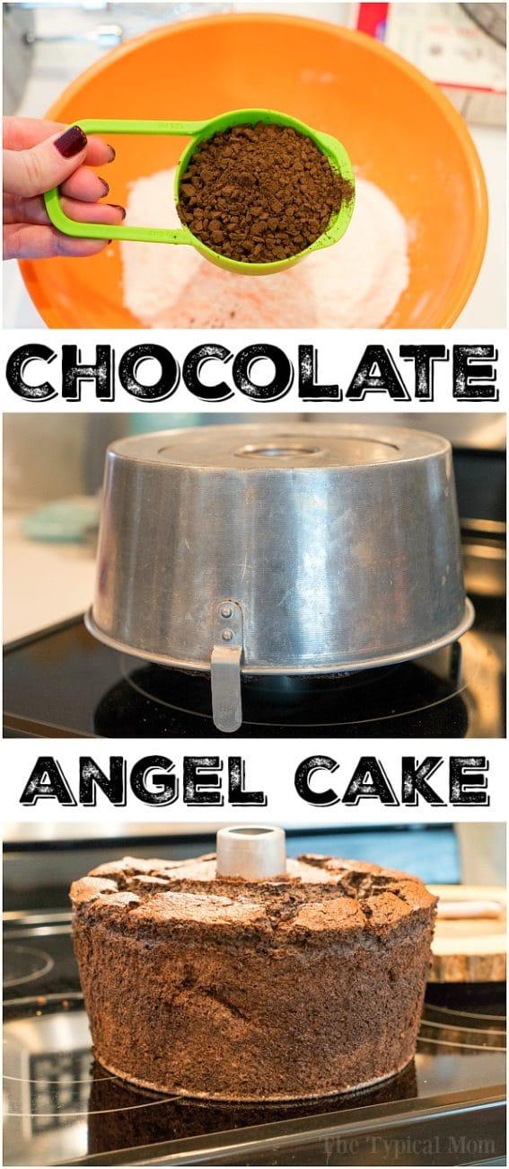 Chocolate Angel Food Cake recipe