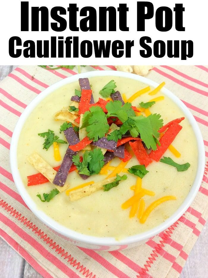 Pressure Cooker Cauliflower Soup