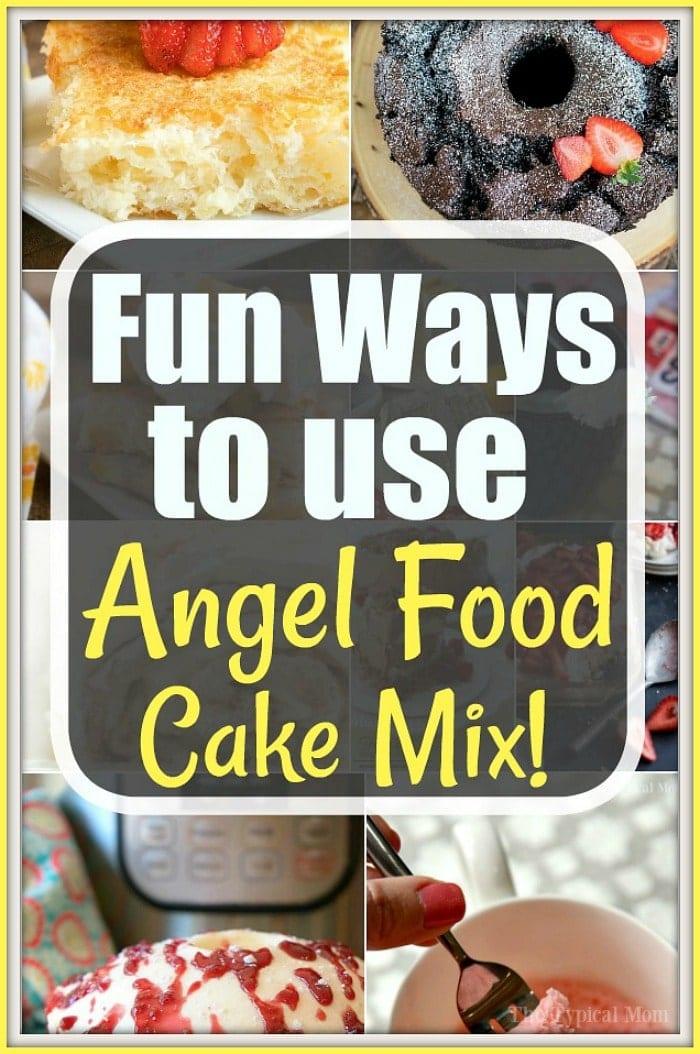 angel food cake mix recipes