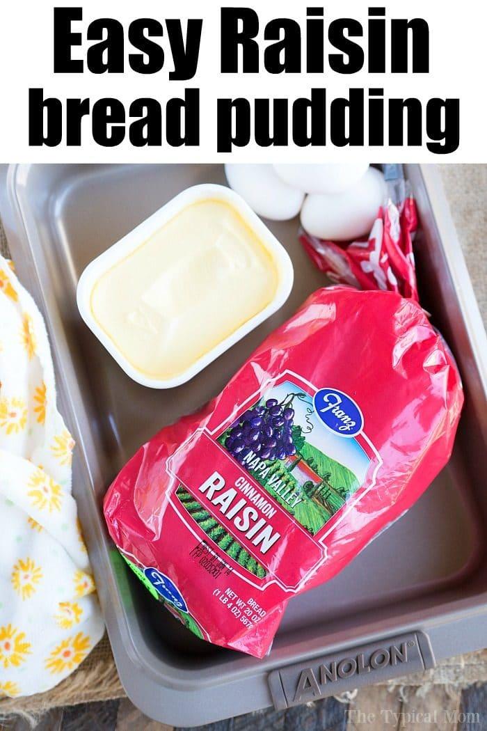 bread pudding recipe with raisins