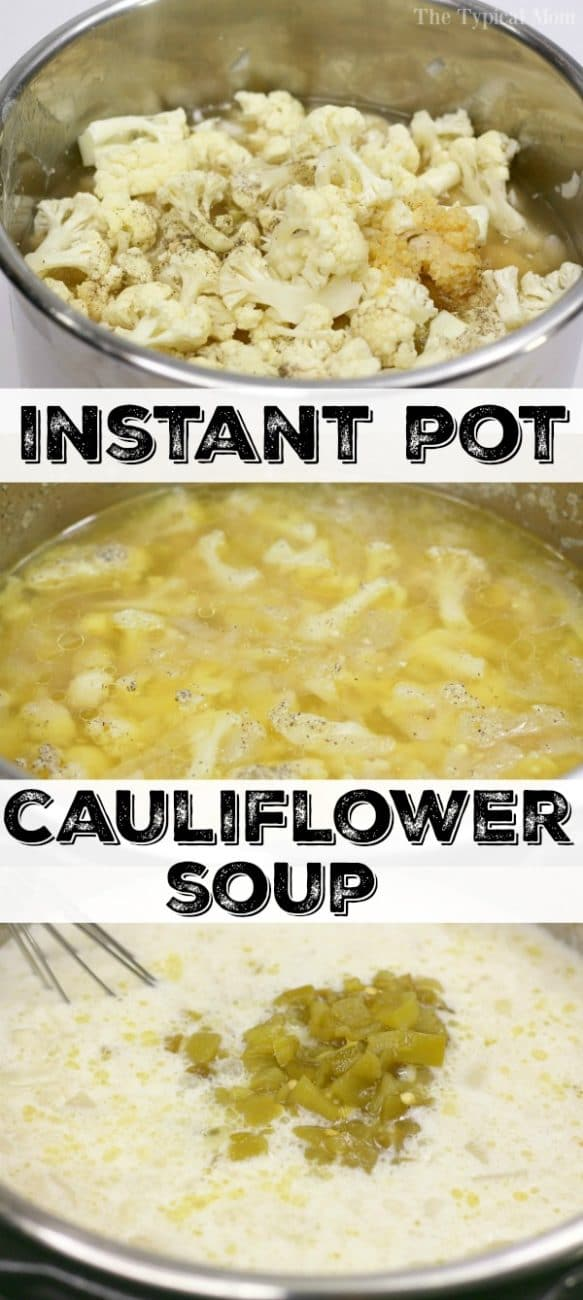 instant pot cauliflower soup 2