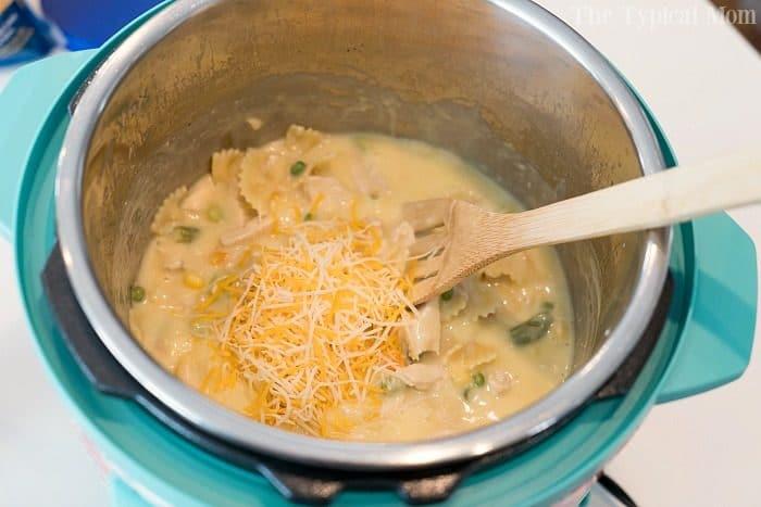 instant pot chicken noodle casserole 2