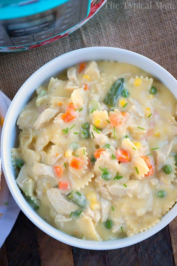 instant pot chicken noodle casserole 3