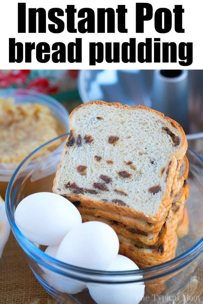 pressure cooker bread pudding