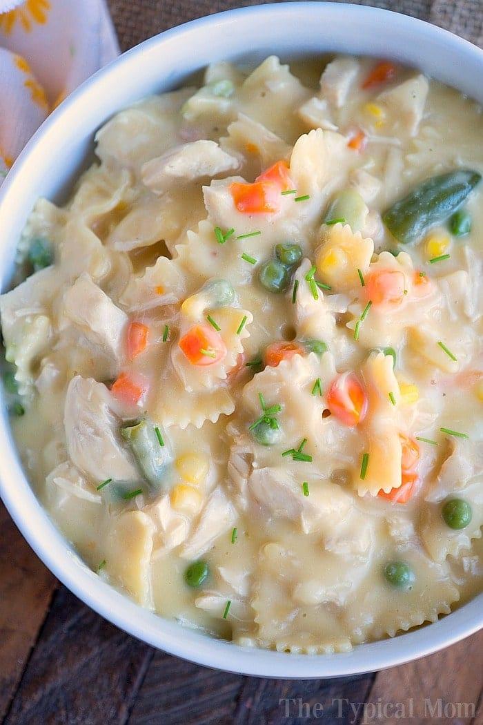 pressure cooker chicken noodle casserole