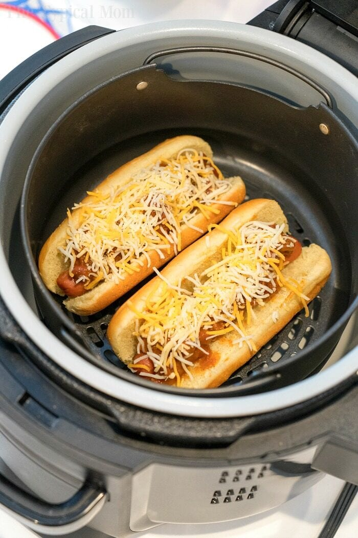air fryer chili dogs