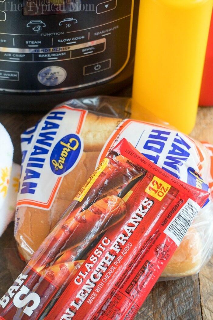 air fryer hot dogs 2