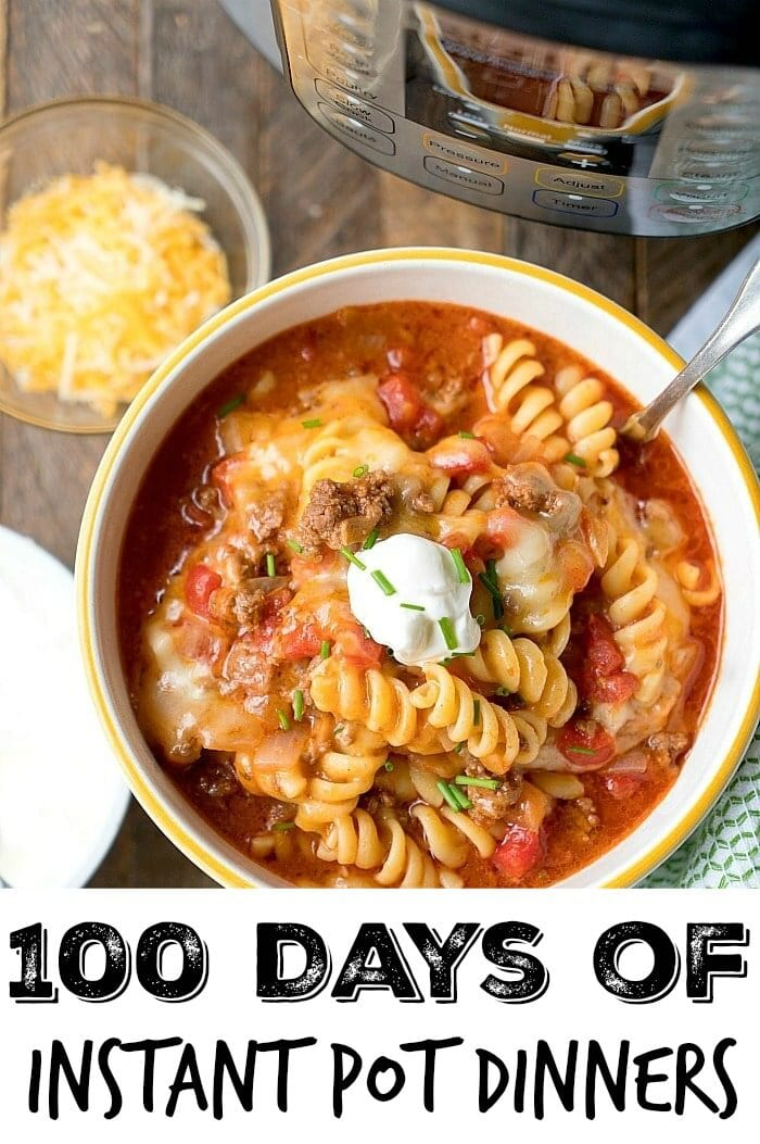 100 Days of Instant Pot Dinner Recipes Your Family will Love