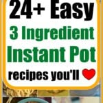 3 ingredient instant pot recipes