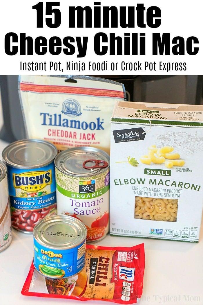 pressure cooker cheesy chili mac