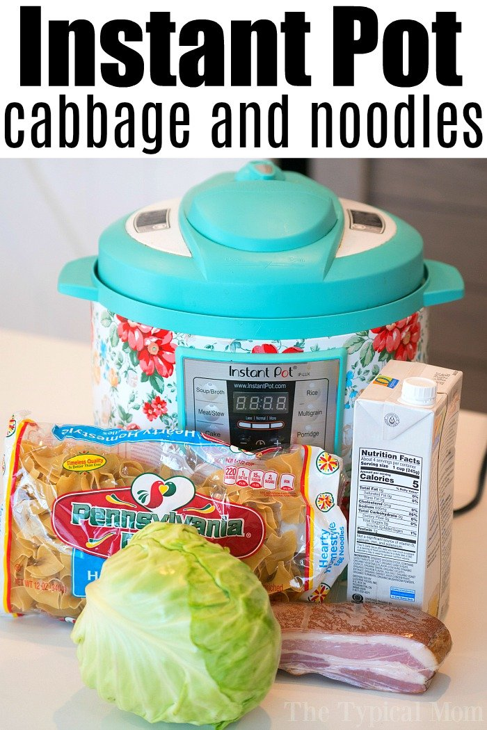 Pressure Cooker Cabbage and Noodles 2
