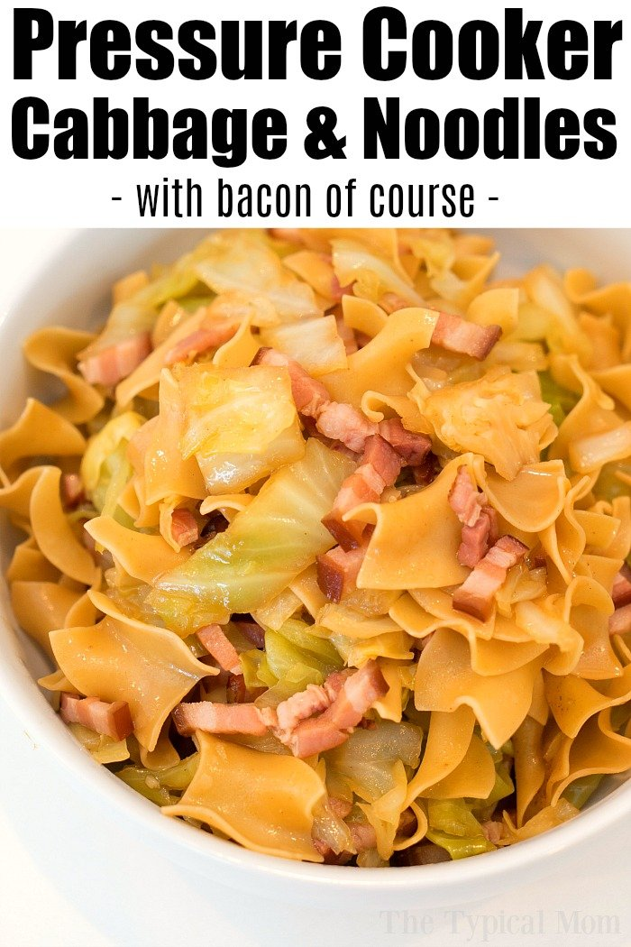 Pressure Cooker Cabbage and Noodles