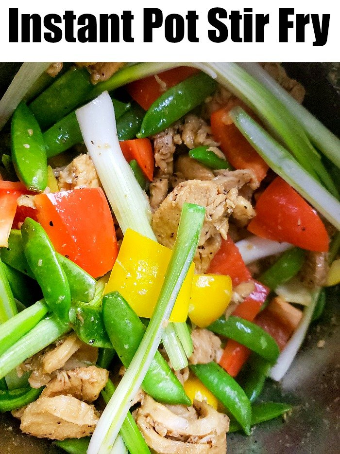 instant pot chicken stir fry