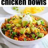 Instant Pot Chicken Taco Bowls