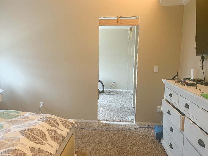 bedroom into a closet