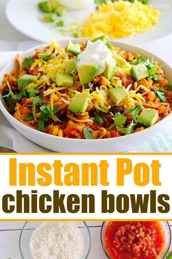 pressure cooker chicken taco bowls