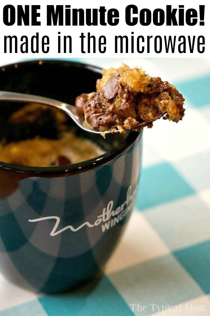 Chocolate Chip Cookie In A Mug The Typical Mom