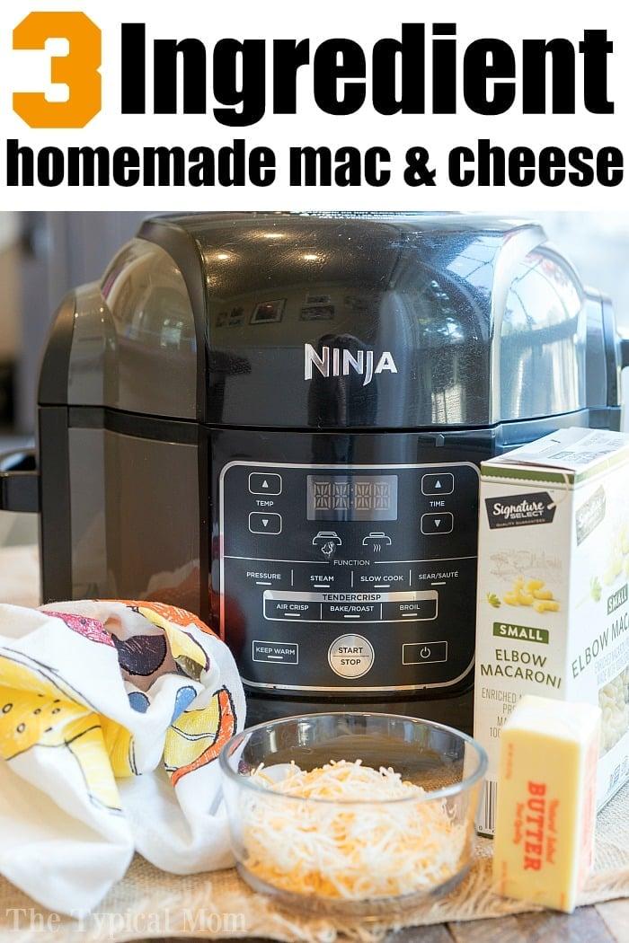 ninja foodi baked macaroni and cheese