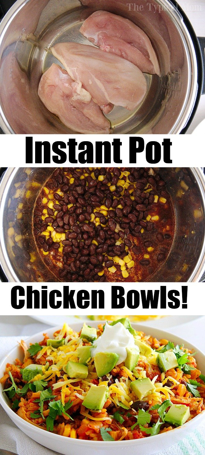 pressure cooker chicken bowl