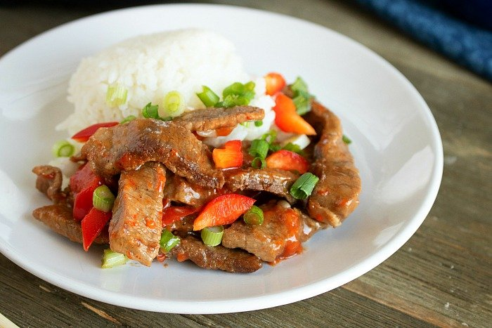 pressure cooker chinese pepper steak 2