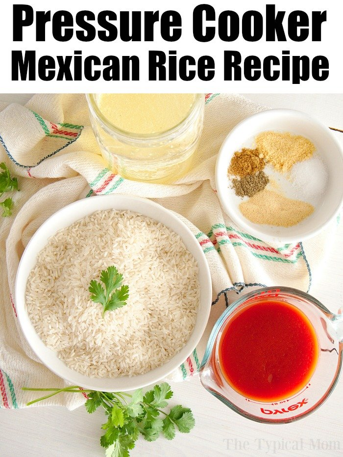 pressure cooker spanish rice