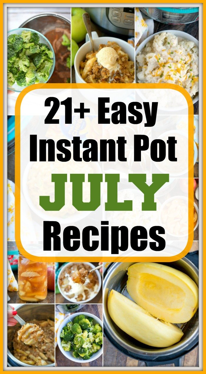 july instant pot recipes