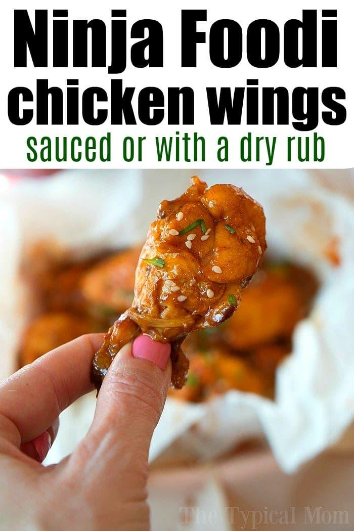 ninja foodi frozen chicken wings