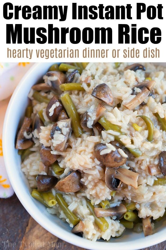 easy instant pot mushroom risotto