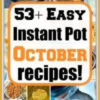 October instant pot recipes