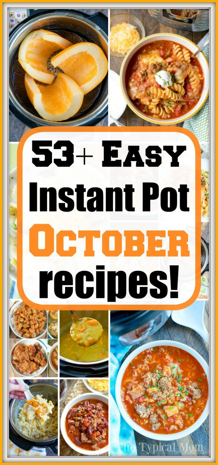 October instant pot recipes