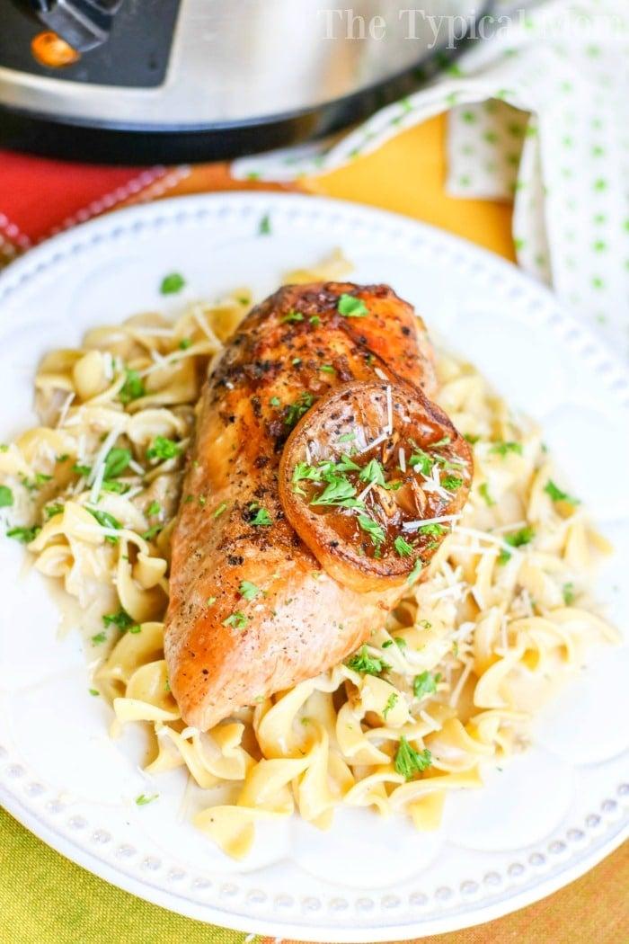 Slow Cooker Lemon Pepper Chicken recipe