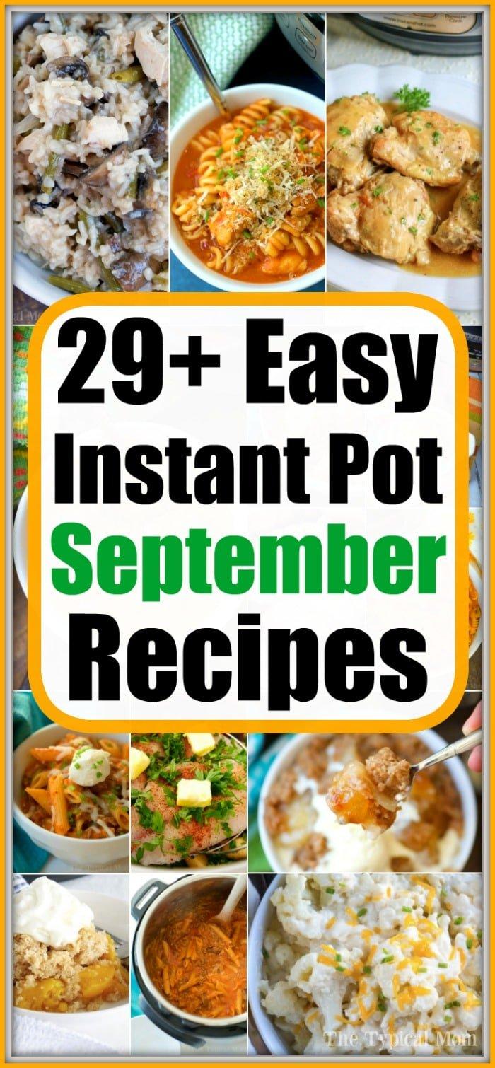 september instant pot recipes